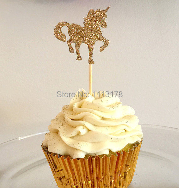 Online Shop Glitter unicorn Cupcake Toppers party baby bridal shower ...