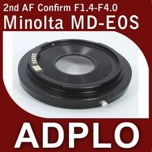 Segundo ajustável Optical AF confirmar Adapter terno para Minolta MD lente para Canon EOS 5Dll 60D 60Da 500D 550D 600D 50D 40D Camera