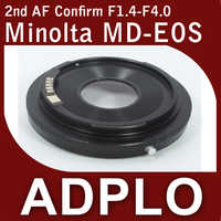 ADPLO 2nd Adjustable Optical AF Confirm Adapter Suit For Minolta MD Lens to Canon EOS 5Dll 60D 60Da 500D 550D 600D 50D 40DCamera