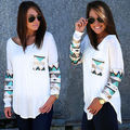 HOT Fashion Womens Long Sleeve Lace Tops Autumn Casual Shirt Tops White