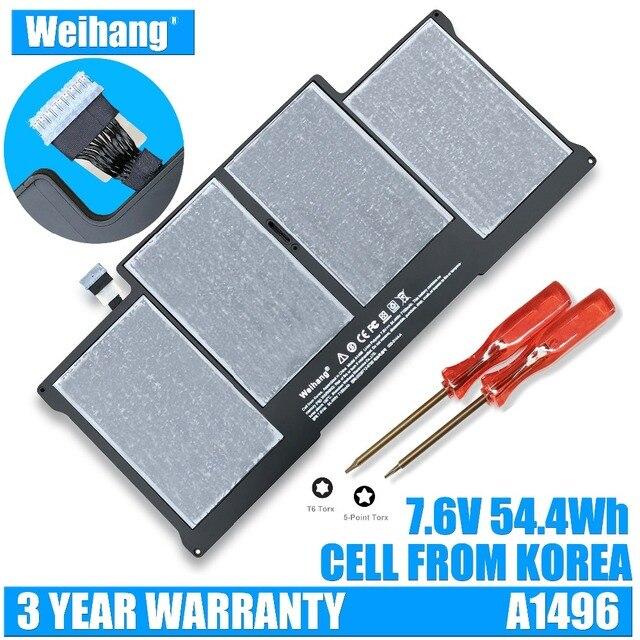 Korea Cell Weihang Battery A1496 For Apple MacBook Air 13 A1369 Mid 2011 & A1466 2012 A1405