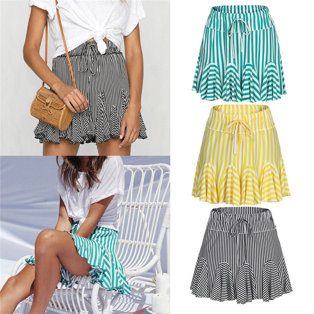 e899a3dfc461 New Fashion 2018 Summer style skirts womens casual Party Cocktail Mini Skirt  Ladies Skater Short skirt Femme Saia Y10 NCTC