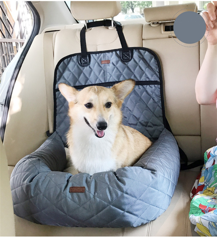Multi-function Pet Booster Bed Deluxe Dog Pet Car Seat Cover Bed Lounge pet car mattress rear thickening pet mat GB0105