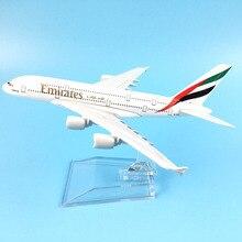 شحن مجاني 16 سنتيمتر A380 طيران الإمارات سبيكة معدنية نموذج طائرة نموذج طائرة طائرة لعبة هدية عيد ميلاد