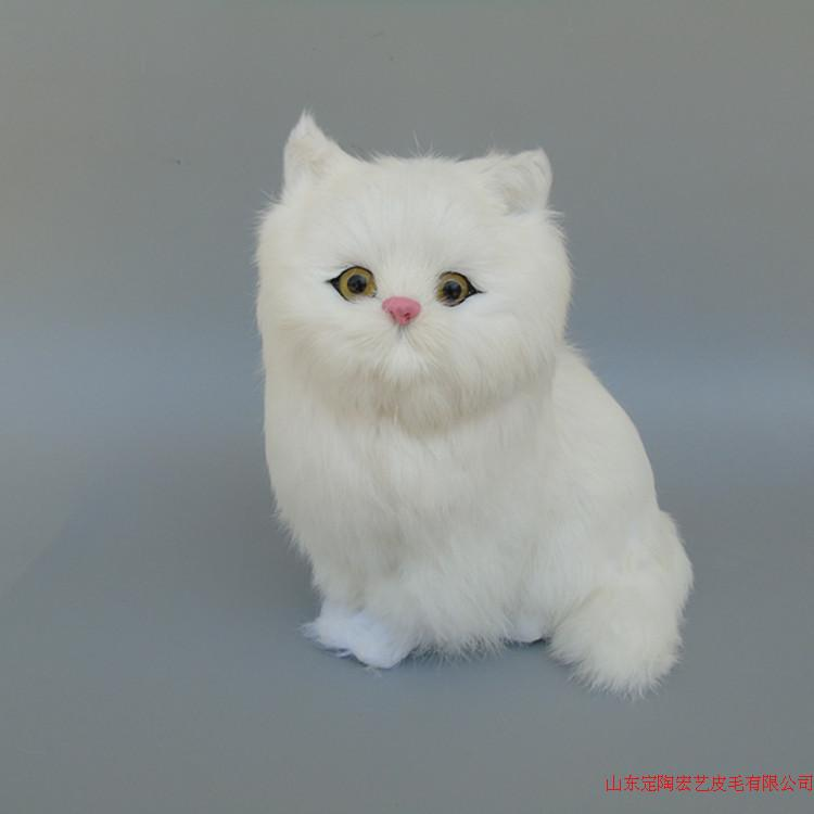 cute simulation white cat polyethylene & furs new cat model about 24x24cm 209 цена 2016
