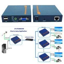 Бесплатная доставка 660ft VGA USB KVM аудио по ip-сети Extender 200 м Поддержка HD 1080 P клавиатуры и Мышь и внешнего стерео аудио