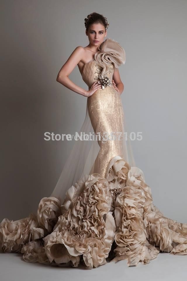 Popular Gold Mermaid Dress-Buy Cheap Gold Mermaid Dress lots from ...