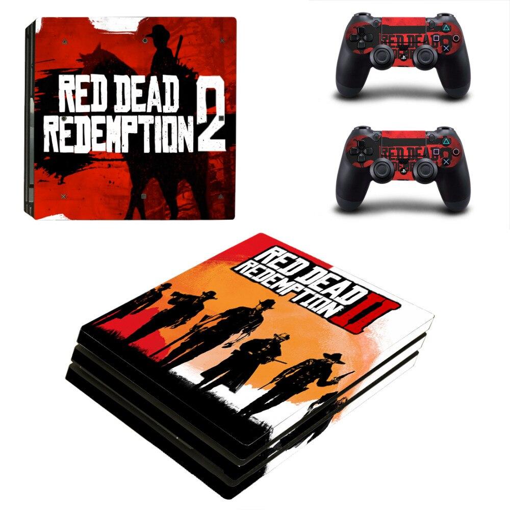 Gioco Red Dead Redemption 2 PS4 Pro Pelle Sticker Decal per PlayStation 4 Console e 2 Controller PS4 Pro Autoadesivo Della Pelle Del Vinile