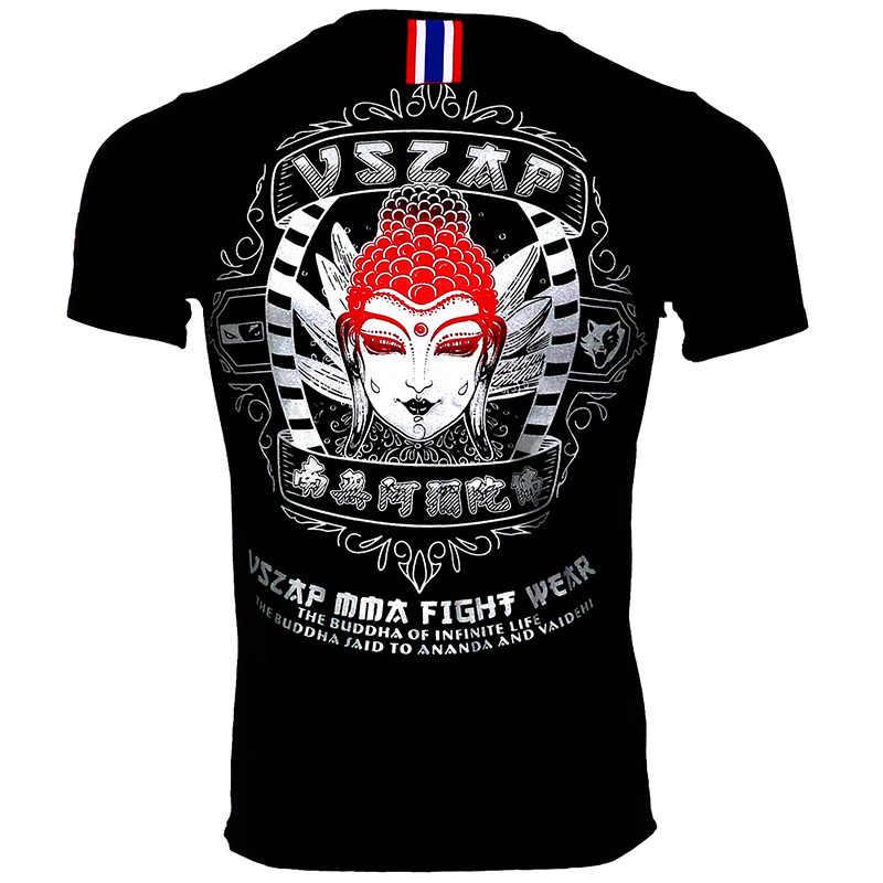 Vszap Kampf Sanda Boxen MMA T Shirt Gym Kaos Kampf Kampf Kampfkunst Kebugaran Latihan Muay Thai T-shirt Mnner Homme
