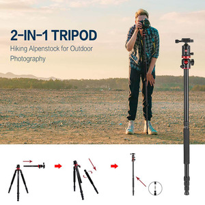 Image 4 - Cadiso M8 Professional Portable Video Horizontal Tripod Monopod with Quick Release Plate 360 Degree Ball Head for DSLR Camera