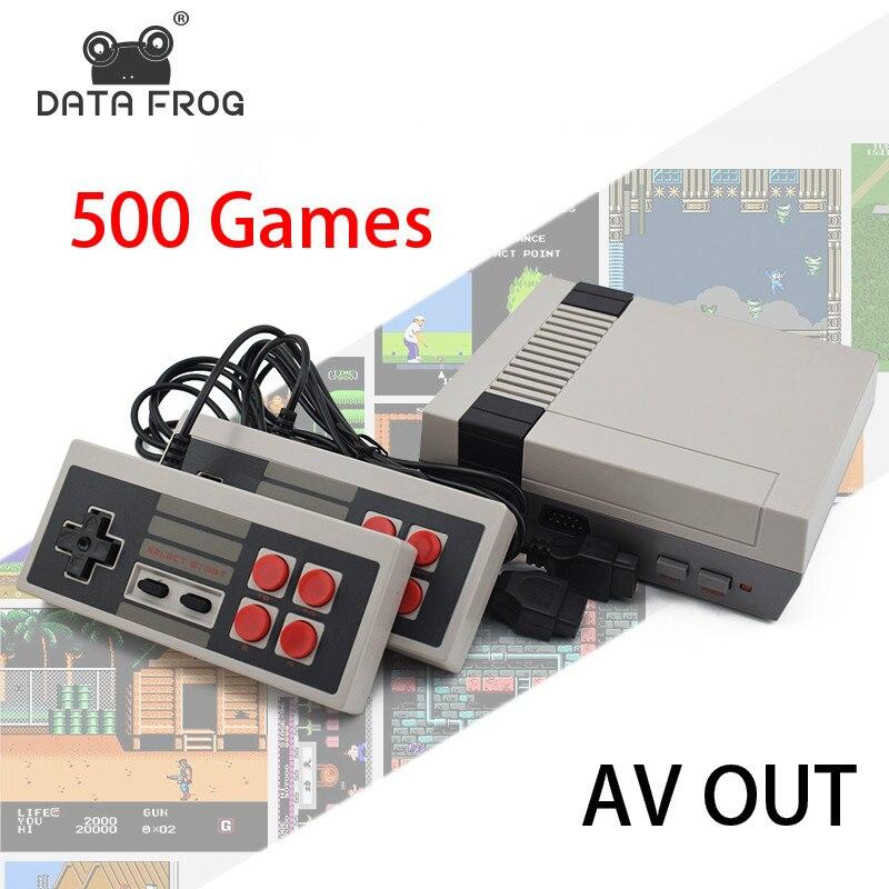 Данных forg мини ТВ игровой консоли 8 бит Ретро игровая консоль Встроенный 500 игры Ручной игровой плеер Best подарок