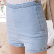 New High Waisted Denim Shorts Women Jeans Short Ladies Slim Summer Casual Trousers Jeans Bottoms Female