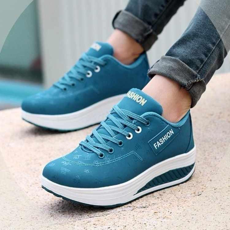 SZSGCN428-2019 ใหม่แฟชั่นรองเท้าสบายๆน้ำหนักเบารองเท้าผู้หญิง Breathable Zapatos de mujer รองเท้าผ้าใบ