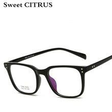 b7707178514 Sweet CITRUS Retro Square Glasses Frames Women Men Myopia eyeglass Fashion  Vintage Computer lentes opticos mujer TR90 Glasses