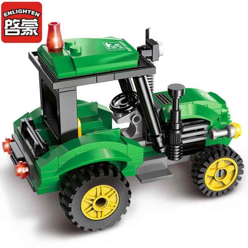 Erleuchten Stadt Engineering Traktor Auto Blöcke Spielzeug für ...