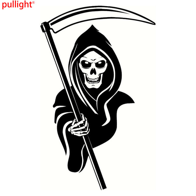 Personalized Car Stickers Halloween Death Funny Motorcycle Vinyl - Funny motorcycle custom stickers decals