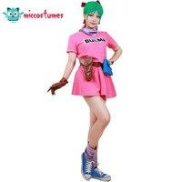 Dragon Ball Z Bulma Cosplay Costume Pink Dress