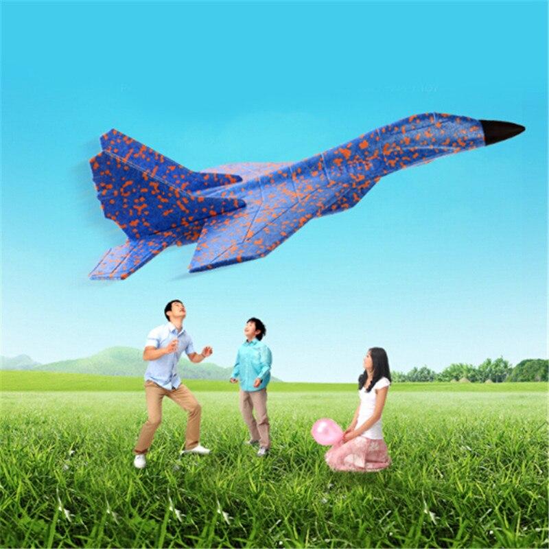 Bricolage main jeter volant planeur sac remplisseurs avion pour enfants jeu jouets avions de chasse mousse avion modèle partie/CE