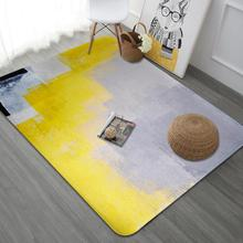 Beau Yellow Art Carpet Living Room Nordic Abstract Bedroom Rug Sofa Coffee Table  Carpets Study Room Floor