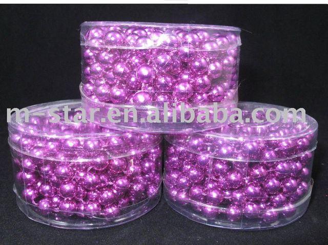 6 feet purple 7mm christmas bead garland - Christmas Bead Garland