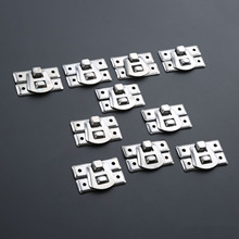 10Pcs/set Silver Box Hasps Iron Lock Catch Latches for Jewelry Chest Box Suitcase Buckle Clip Clasp Vintage Hardware 31*22mm 10pcs 43 21mm white duck mouth buckle vintage mini lock chest box gift box suitcase case buckles toggle hasp latch catch clasp