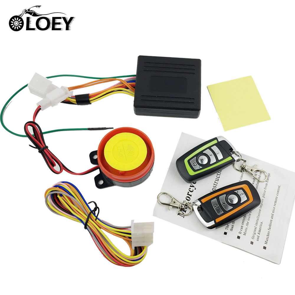 Motorcycle Scooter Alarm Anti-theft Security Alarm Protection System Remote Control Engine Start Universal Motor Bike Chopper