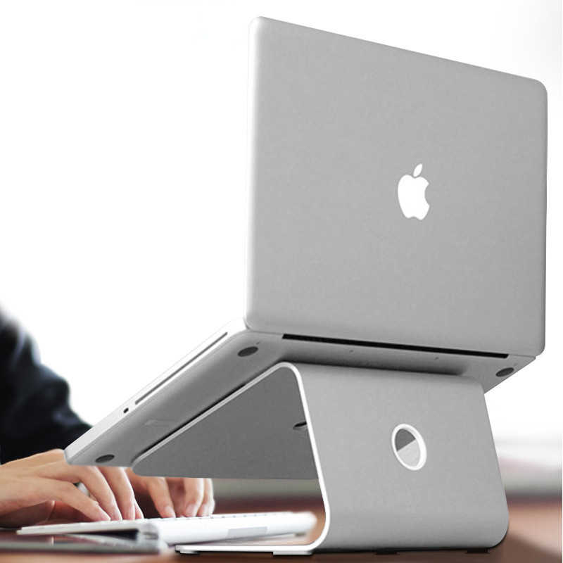 "New Aluminum Alloy Laptop Stand Holder  11-17"" Desk Ergonomics Heighten Notebook Bracket Laptop Cooler Cooling Pad for Macbook"