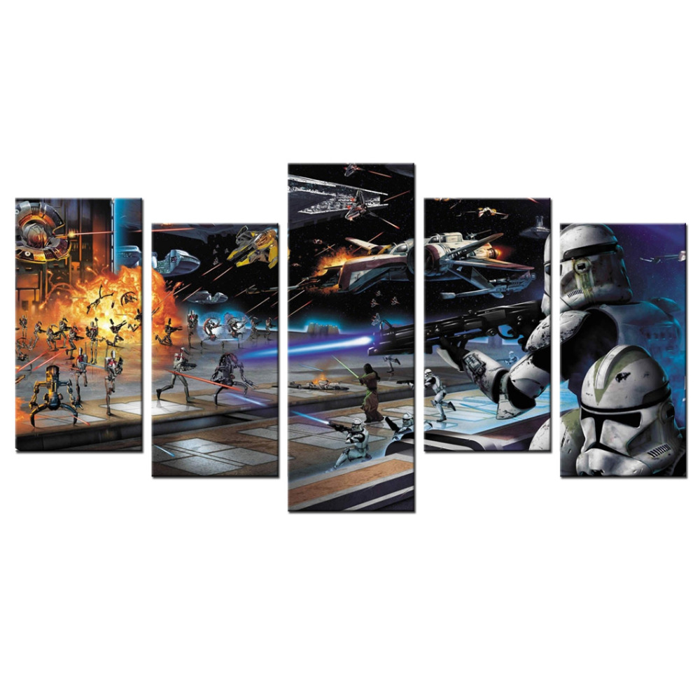 5 piece canvas star wars battle front ii poster canvas for 5 piece mural
