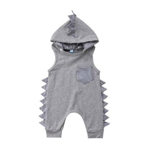 76f3512e3 Niños bebé recién nacido niños niñas chaleco con capucha chaleco pantalones  mameluco mono dinosaurio ángulo de flanco lindo Casual ropa de bebé ...