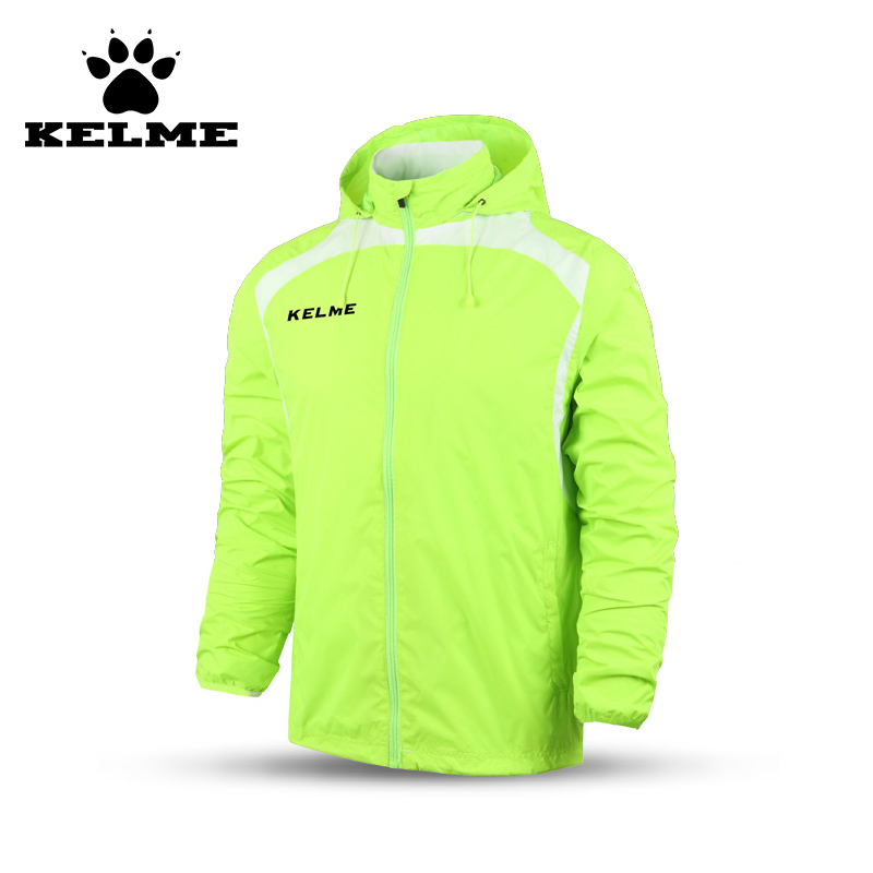 KELME Football Training Suit Windcoat Overcoat Windproof Soccer Jersey Leisure Jacket Voetbal Trainingspak Tourism Sports 69  kelme top quality survetement football waterproof jackets soccer uniform athletics jogging training soccer champions windcoat 28