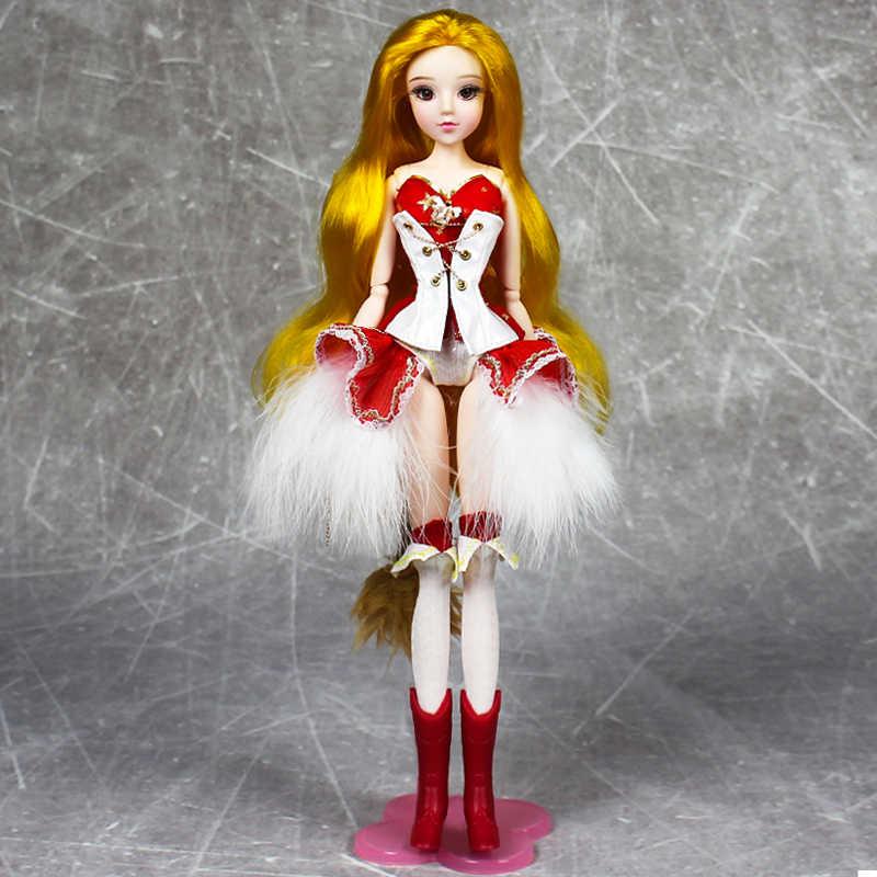 MMG девочка мечта фея BJD кукла 12 созвездий Лев с крутой Красной нарядная обувь хвост стенд ожерелье плащ 14 шарнир тело игрушка подарок