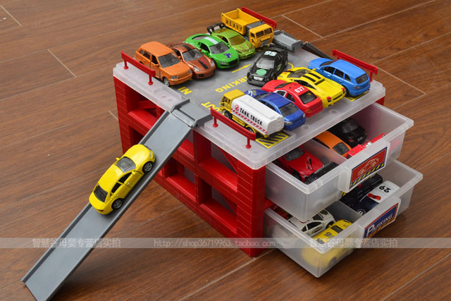Min Parking Lot Car Parking Toy Toy Set Tomy Mini Toy Car Storage