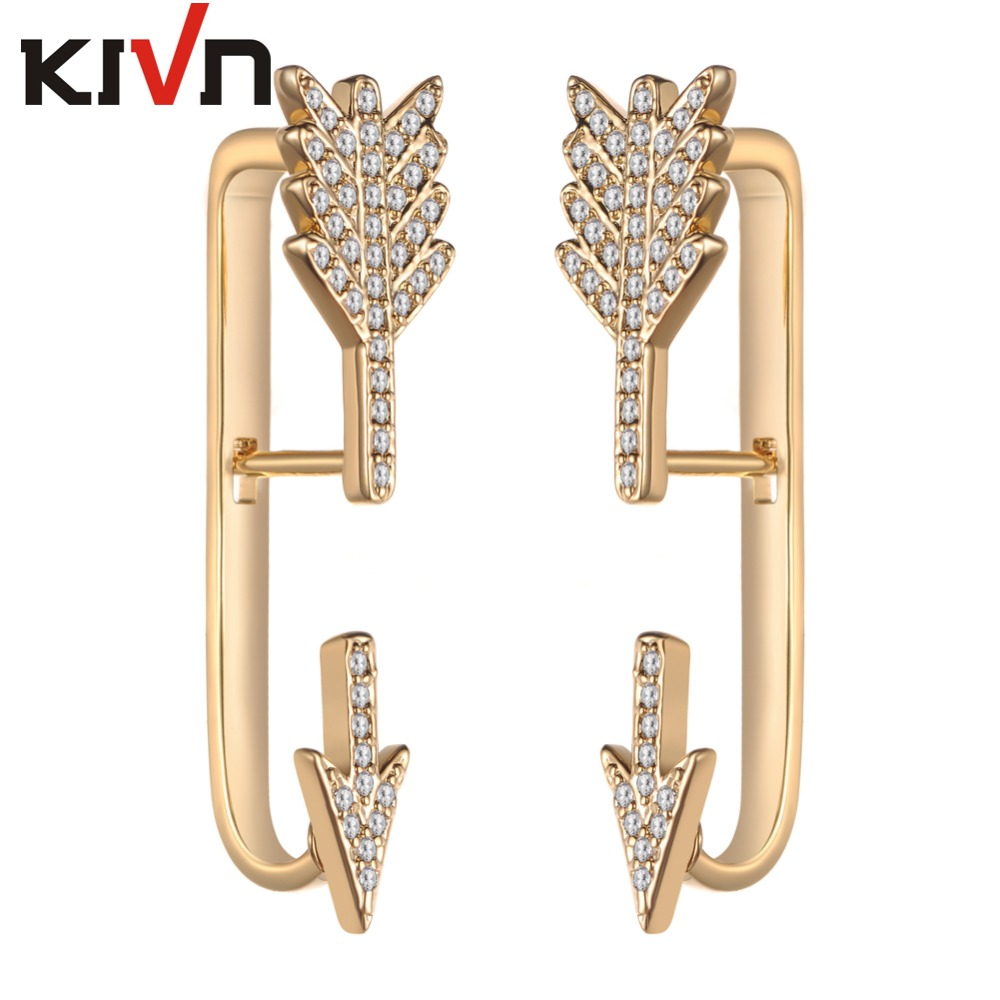 KIVN Fashion Jewelry Pave CZ Cubic Zirconia Arrow Ear Cuff Ear - Κοσμήματα μόδας