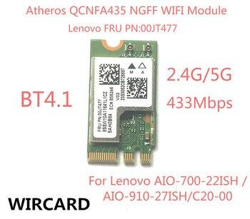 Bezprzewodowy Adapter karty QCA9377 QCNFA435 802.11AC 2.4G/5G NGFF karty WIFI Bluetooth 4.1 dla Lenovo AIO-700-22ISH C20-00