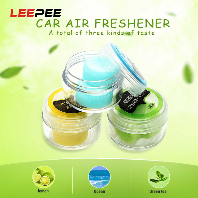 LEEPEE 2Pcs/Box Solid Pill Fragnace for Car Vent Clip Perfume Diffusion Oil Fragnace Pad Auto Perfume Replacement Air Freshener
