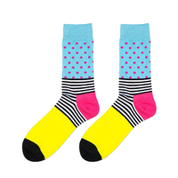 Fashion Autumn Winter Cotton Middle Tube Socks British Style Color Printing Striped Printing Soft Warm Socks