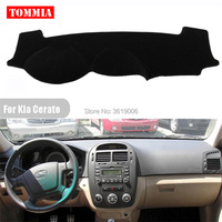 TOMMIA Interior Dashboard Cover Light Avoid Pad Photophobism Mat Sticker For Kia Cerato 2005 2012
