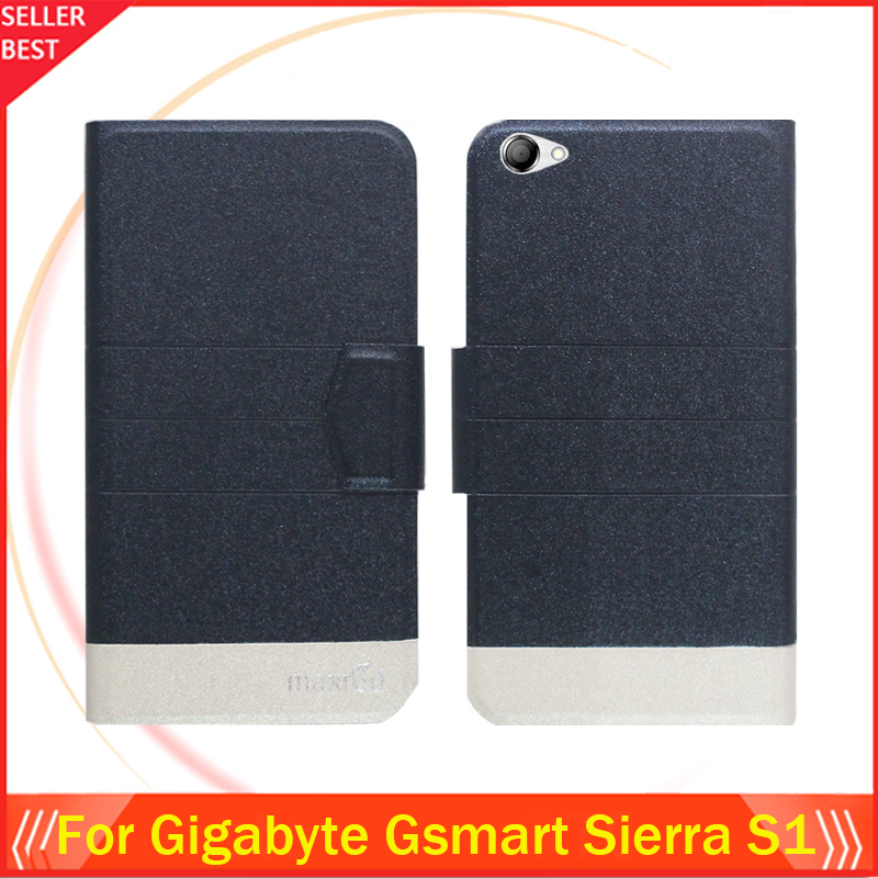 5 Colors Hot!! Gigabyte Gsmart Sierra S1 Case Ultra-thin Flip Fashion Leather Exclusive Phone Cover Card Slots Free Shipping