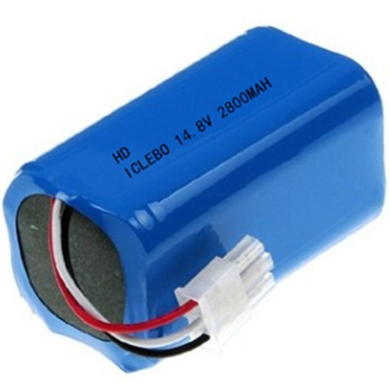 Batterie balayeuse pour Iclebo Arte Ycr-M05, Ycr-M05-P, Ycr-M04-1 intelligente