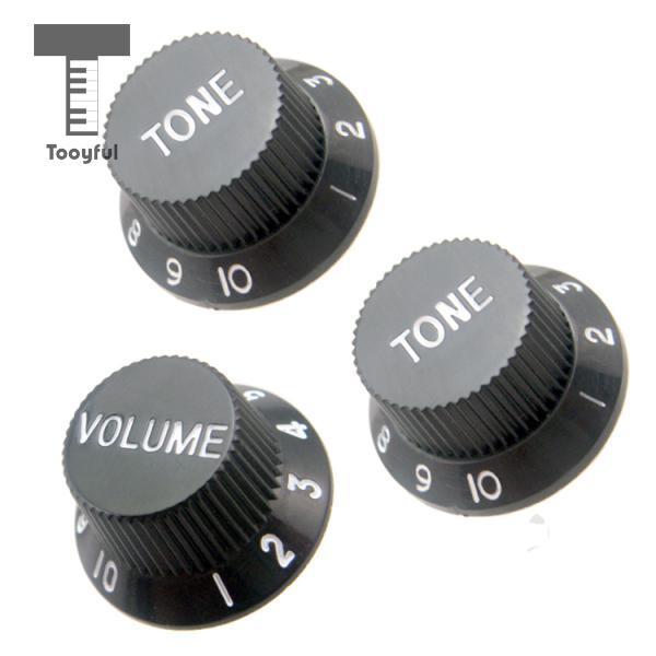 buy tooyful set top hat volume tone control knobs for strat electric guitar. Black Bedroom Furniture Sets. Home Design Ideas