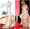 2016 Newest Movie Cinderella Shoes Crystal Rhinestone New Arrival Adult Prom Pumps Sexy Ladies Wedge Wedding Women Heels