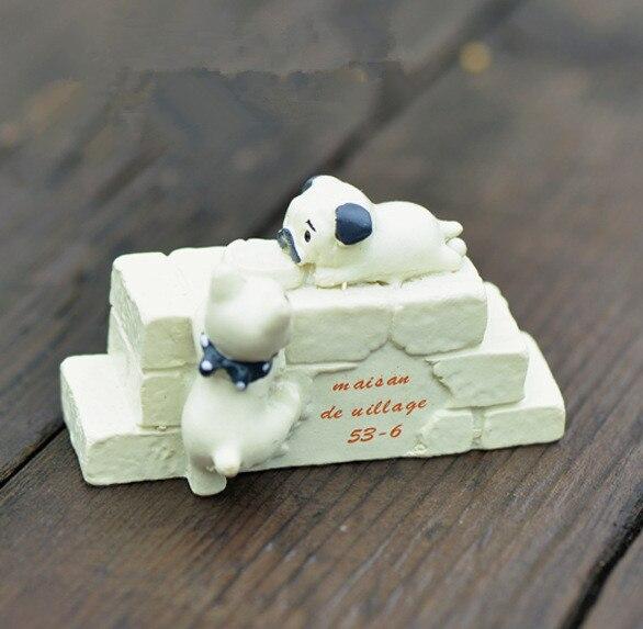 2016 Mini Cute Diy Resin Cat Climbing Wall Craft Bonsai Garden