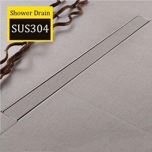 Image 2 - AODEYI 600mm długa taśma odpływ podłogowy 304 stal nierdzewna odporny na zapachy z płytką wstaw ruszt niewidoczny odpływ prysznicowy szczotkowany