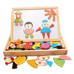 Vendita calda educativo giocattolo di legno nuovo stile magnetico di puzzle colorato regalo 1 pz