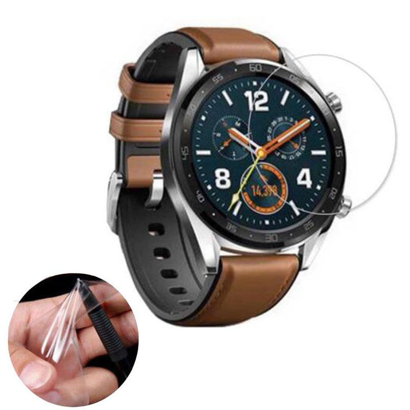 3pcs Soft Ultra Clear Protective Film Guard Protection For Huawei Watch GT Sport Smartwatch Screen Protector Cover (Not Glass)