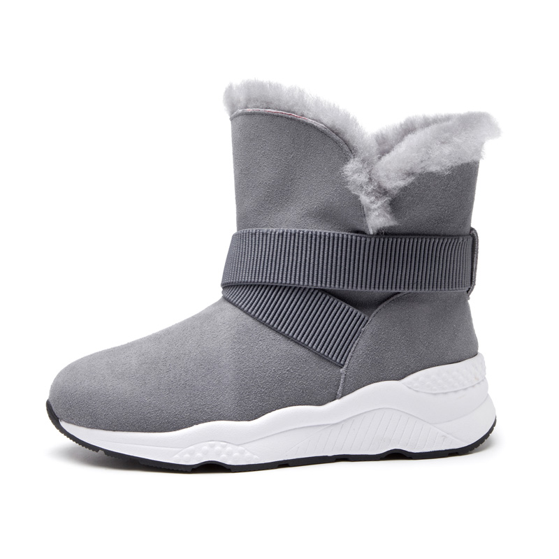 2018 new winter two wear snow boots sheepskin boots women's boots really pima ding boots female boots slope with flat 2017 new women s genuine leather boots motorcycle boots rough with in tube high heeled boots thick wool really pima ding