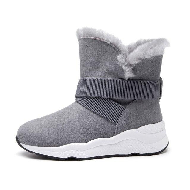 f6a507f8d5a1b 2018 nowy zima dwa nosić snow boots barania buty damskie buty naprawdę pima  ding kozaki damskie