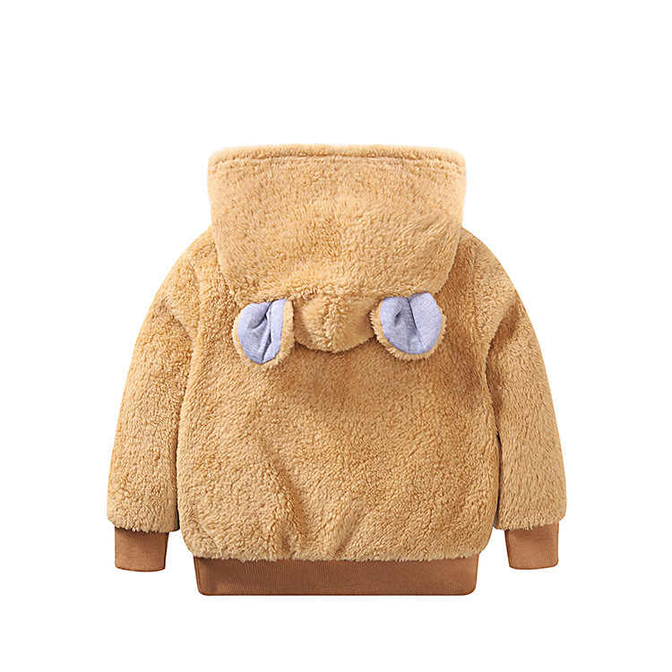 Новинка 2018 года; Детский свитер с капюшоном в Корейском стиле; повседневная куртка с капюшоном для девочек; пальто для мальчиков; Верхняя одежда; куртки