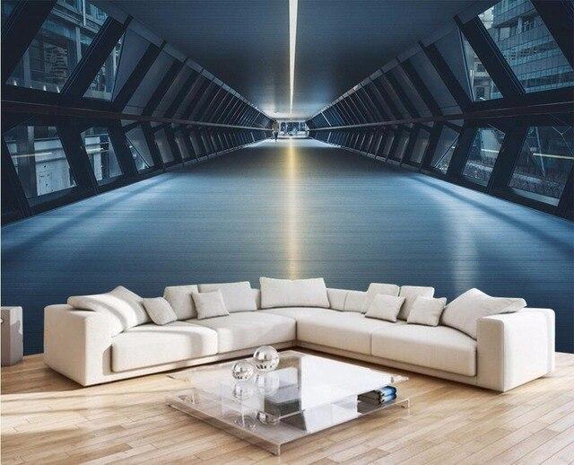 Benutzerdefinierte foto 3d tapete Hintergrund outspread raum tunnel malerei 3d wandbilder wallpaper f r wohnzimmer.jpg 640x640 - 3d Tapete Tunnel