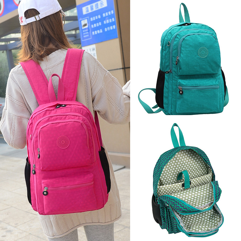 5pcs/set Casual 100% Original Bolsa Kiple School Backpack For Teenage Girl Mochila Escolar With Monkey Keychain #2